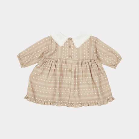 【CARAMEL】Buzzard Baby Dress, Chestnut Dotty Print