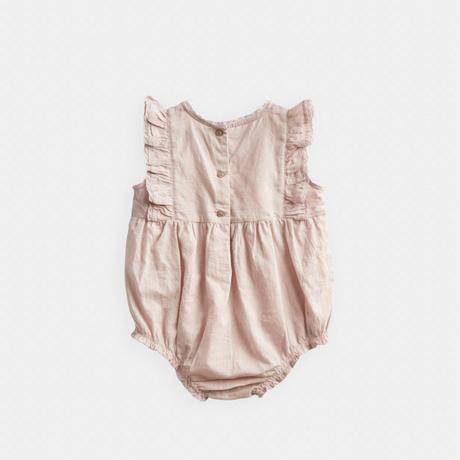 【Belle Enfant 】Flutter Sleeve Romper Beige