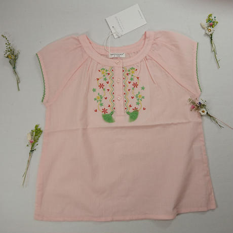 【happyology】Erin Embroidery Top, Coral