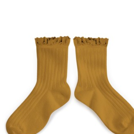 【collegien】lace  trim ankle socks