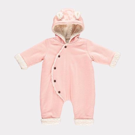 【happyology】Alvin Baby Snowsuit, Dusty Rose