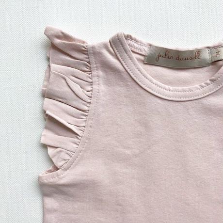 【Julie dausell】Bodysuit wings short sleeves – nude
