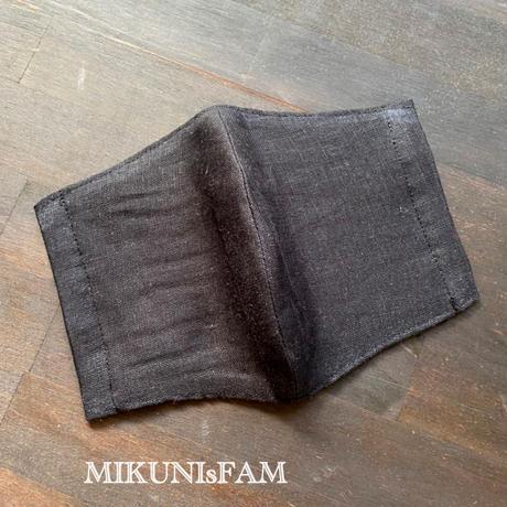 洋服屋さんのマスク・リネン黒(大きいサイズあり)(送料無料)
