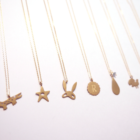 Golden Bunny Mask Necklace
