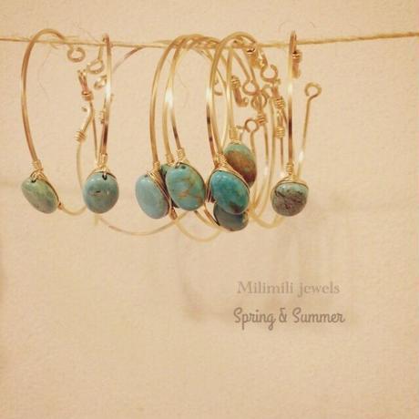 flaming turquoise bangle