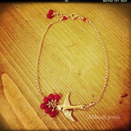 【Manu】 swallow bracelet