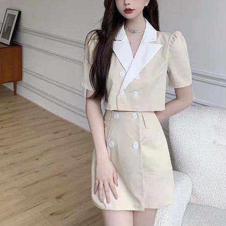bicolor jacket set up