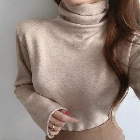 simple daily highneck knit