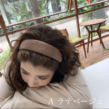 velours colour hairband