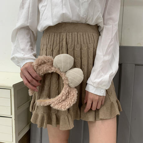 cable fiill knit skirt