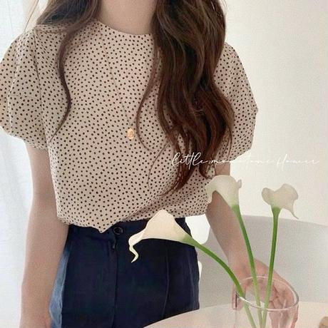 little monotone flower blouse