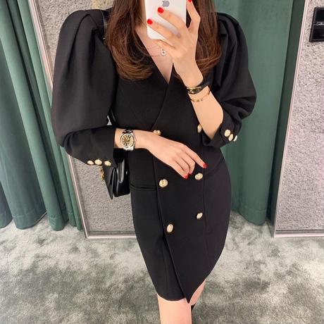tailored black onepiece
