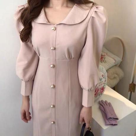 pearl puff long onepiece
