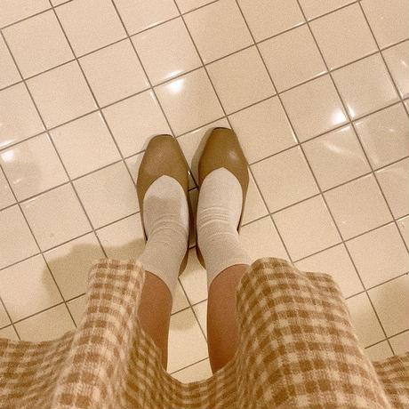 square gold pumps