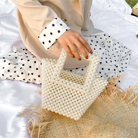 square  pearl bag