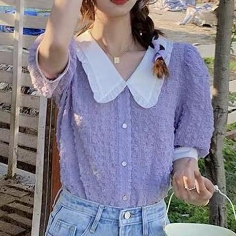 waffle bijou blouse