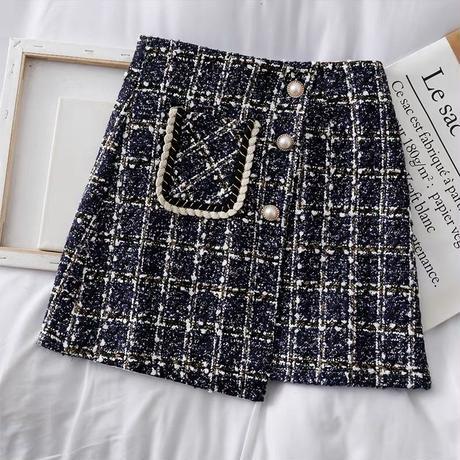 deformed tweed skirt