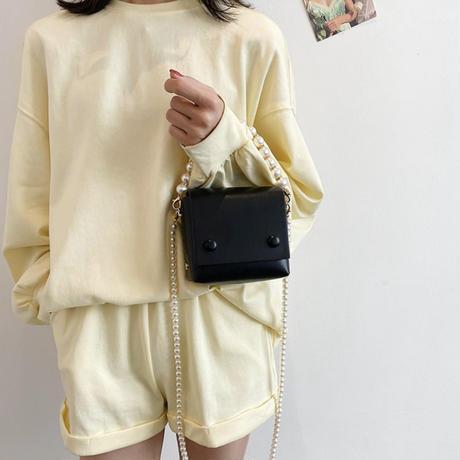 pearl square mini bag
