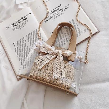 ribbon clear bag