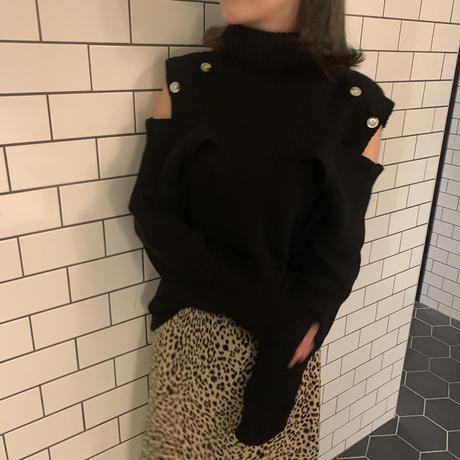 leopard relax skirt