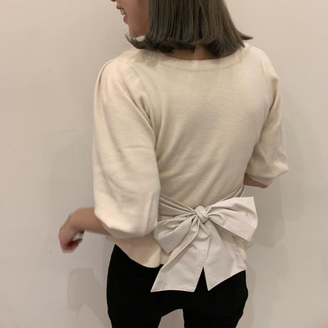 waist  back ribbon knit