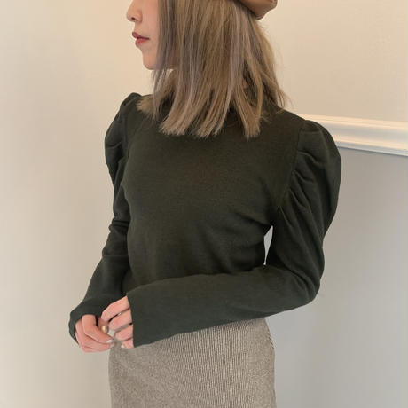 puff sleeve dusty knit