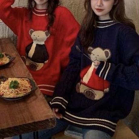 muffler bear knit