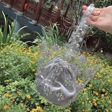 clear bijou pvc bag