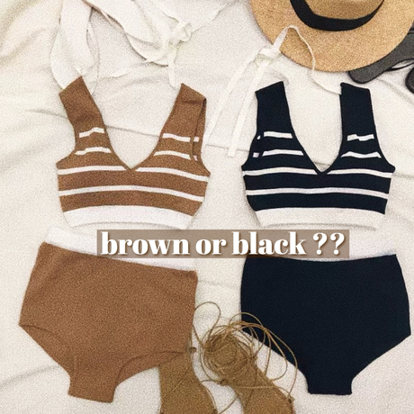 border knit swimwear