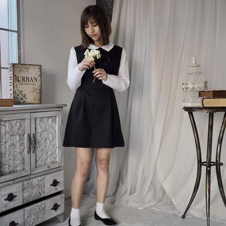 Waist shaped ribbon dress