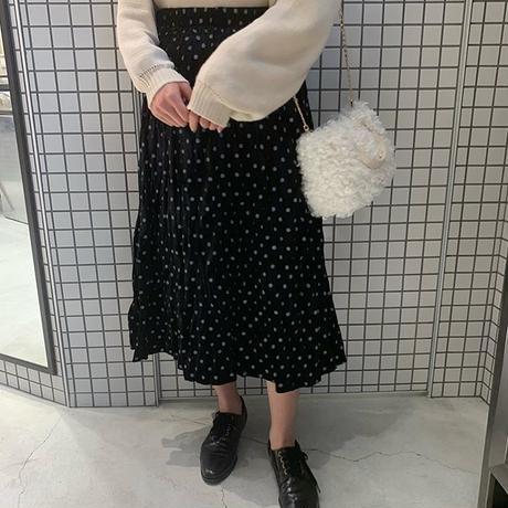 velours dot skirt
