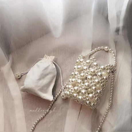 pearl mini shoulder bag