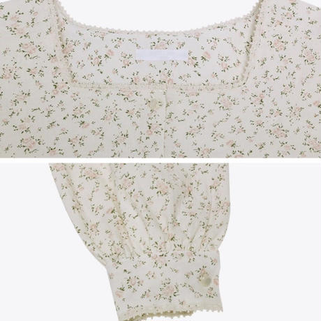 romantic flower blouse
