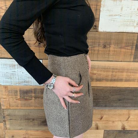 highwaist w button short pants