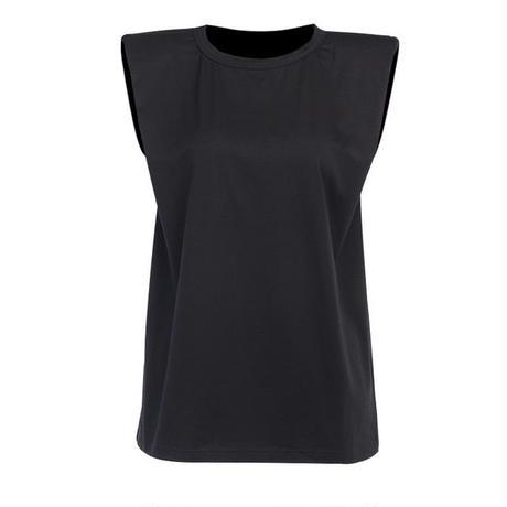 パワーショルダー ノースリーブTシャツ