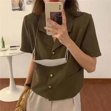 love button blouse