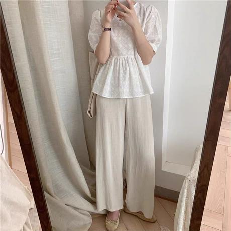 cotton peplum blouse