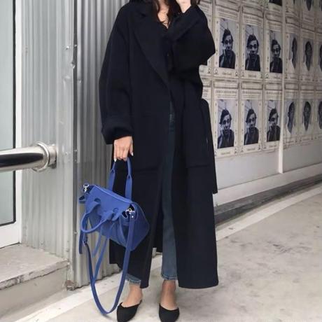 side slit long coat