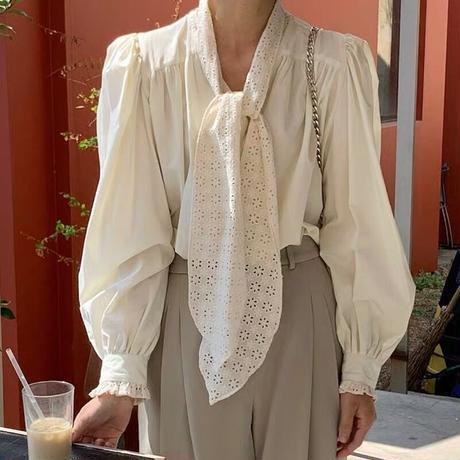 2way beige blouse