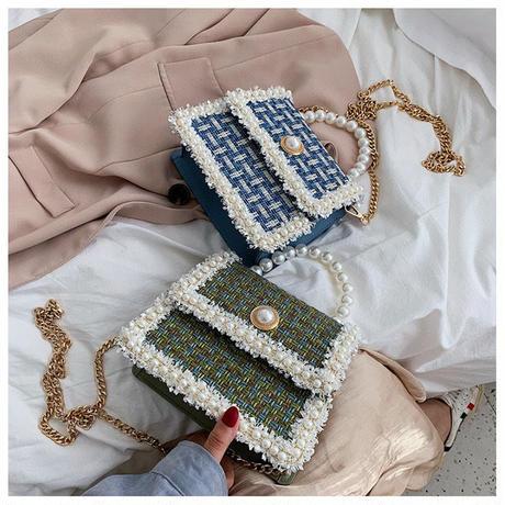 tweed pearl bag
