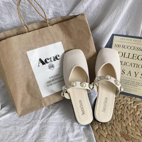 pearl flat sandal