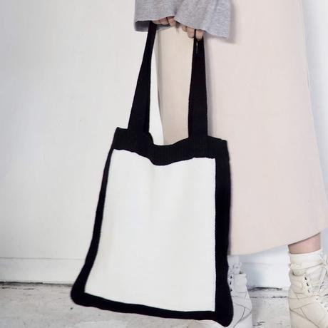Square knit tote-bag