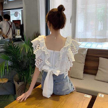 back ribbon flare cotton