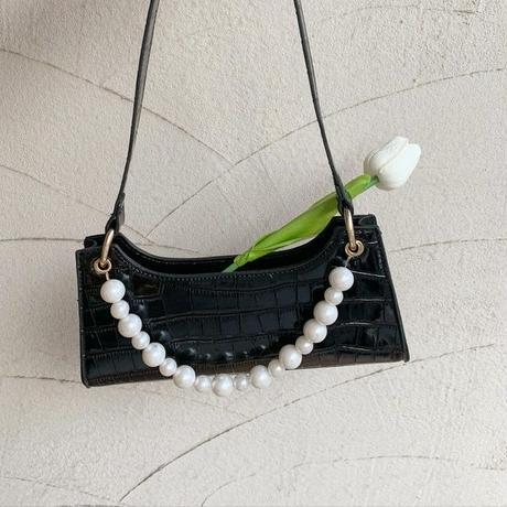 croc pearl bag