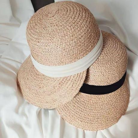 straw ribbon casquette