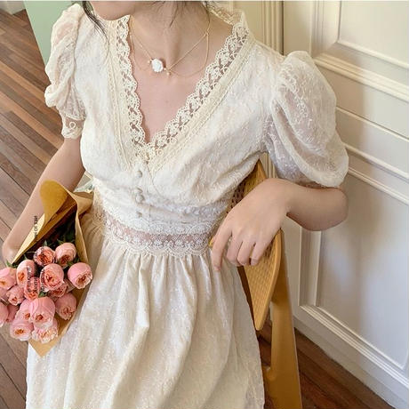 seethrough Flower lace onepiece
