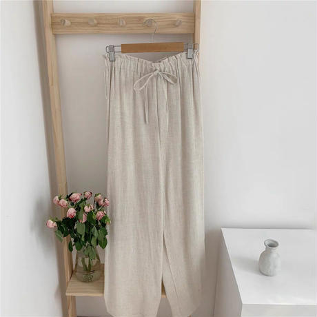 relax beige long pants