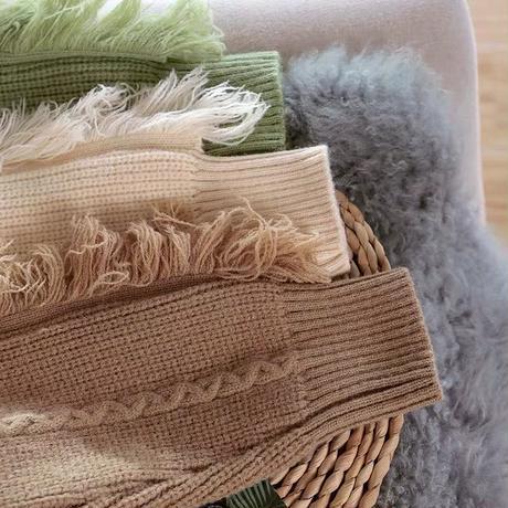 fringe over knit