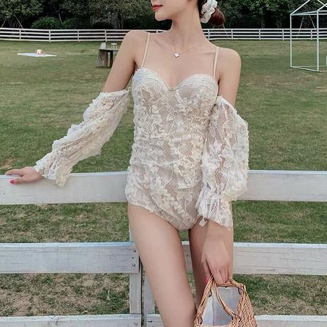 lacy onepiece swimwear