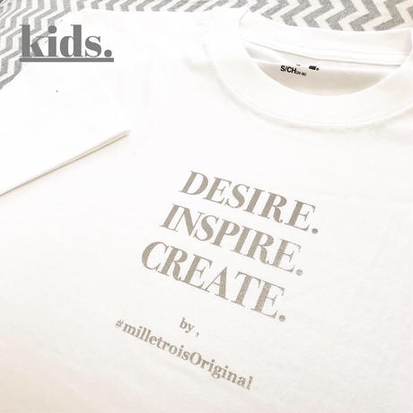 Kids☆ORIGINAL LOGO T- shirt . [ gray ]